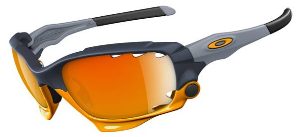 Oakley Jawbone Edition Max Fear Bunker Blue / Black Iridium + Fire Iridium Vented (24-294)
